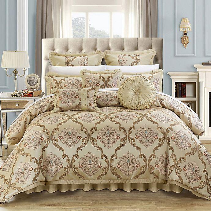 Alternate image 1 for Chic Home Marchesi 9-Piece Queen Comforter Set in Beige