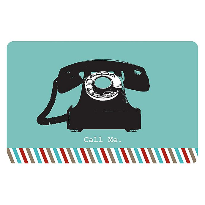 Alternate image 1 for The Softer Side by Weather Guard™ 18-Inch x 27-Inch  Retro Telephone Kitchen Mat