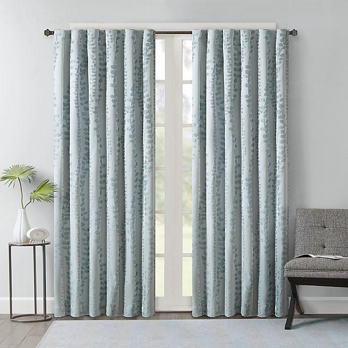 Alternate image 1 for Brandy Leaf Rod Pocket/Back Tab Window Curtain Panel