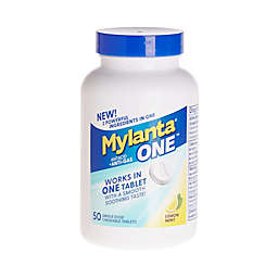 Mylanta® One™ 50-Count Antacid and Anti-Gas Single-Dose Chewable Tablets in Lemon Mint