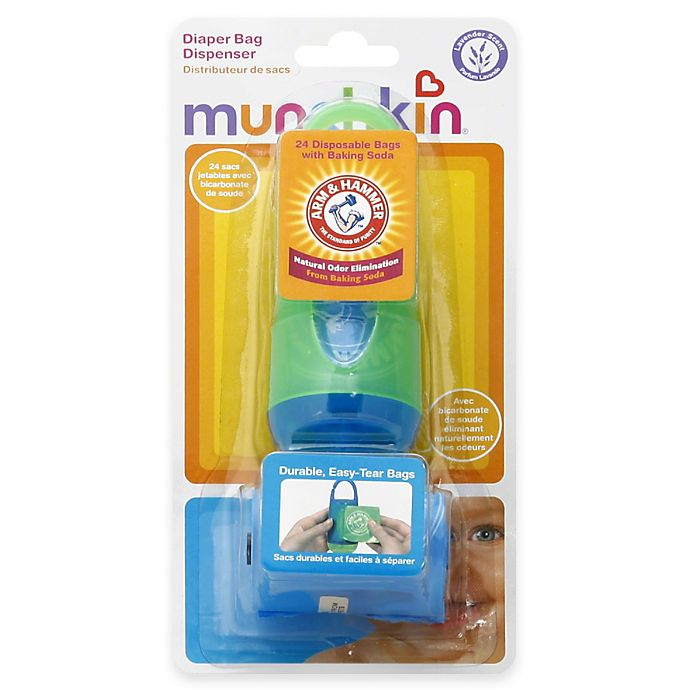 Munchkin Arm And Hammer 24 Count Diaper Bag Dispenser Bags In Lavender