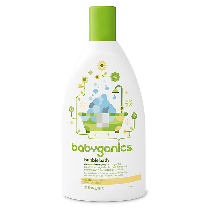 Babyganics 174 20 Oz Bubble Bath In Chamomile And Verbena
