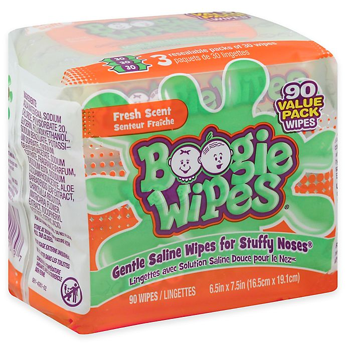 Alternate image 1 for Boogie Wipes® 3-Pack 30-Count Saline Wipes in Fresh Scent
