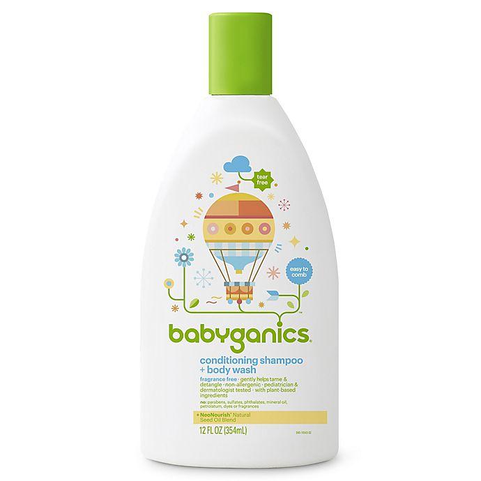 Alternate image 1 for Babyganics® 12 oz. Conditioning Shampoo + Bodywash in Fragrance-Free