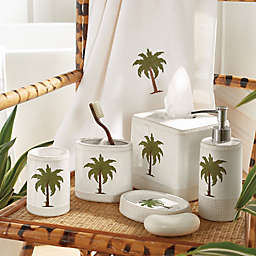Palm Bath Accessory Collection in Green