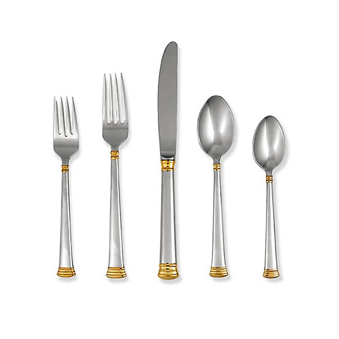 Alternate image 1 for Lenox® Eternal® Gold 5-Piece Flatware Place Setting