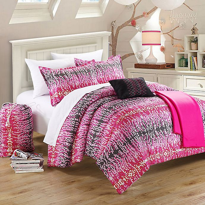 Alternate image 1 for Chic Home Taika Comforter Set in Pink