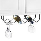Under Counter 6-Bottle Wine Rack with Stemware Holder