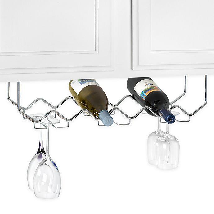 Under Counter 6 Bottle Wine Rack With Stemware Holder Bed Bath