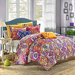 Chic Home Savannah 12-Piece Reversible King Comforter Set in Fuchsia