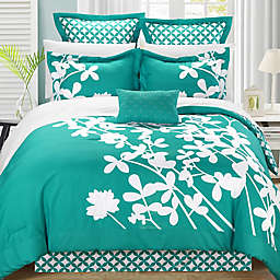 Chic Home Sire 11-Piece Reversible Queen Comforter Set in Turquoise