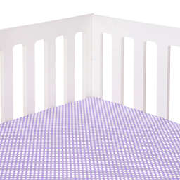 Glenna Jean Lilly & Flo Polka Dot Fitted Crib Sheet in Purple