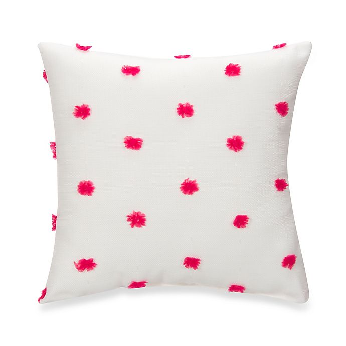 Alternate image 1 for Glenna Jean Lilly & Flo Puff Throw Pillow in Pink/White