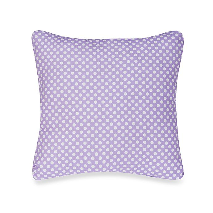 Alternate image 1 for Glenna Jean Lilly & Flo Polka Dot Throw Pillow in Purple