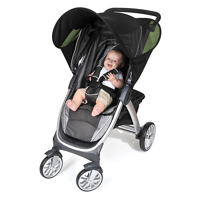 Alternate image 1 for Nuby™ Stroller Sunshade in Black