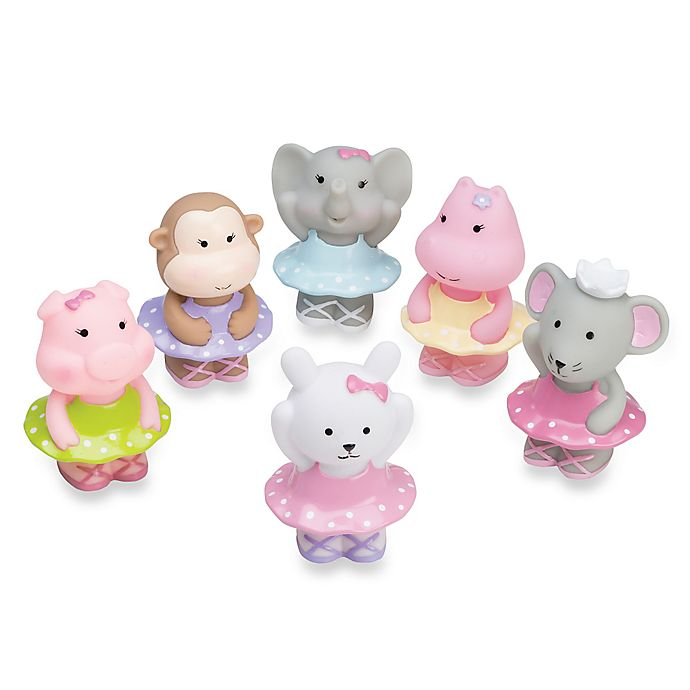 Alternate image 1 for Elegant Baby® Ballet Party 6-Piece Bath Squirties