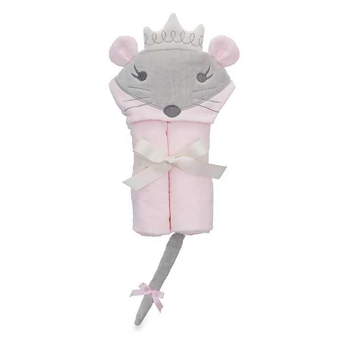 Alternate image 1 for Elegant Baby® Mousie Princess Bath Wrap Towel in Pink