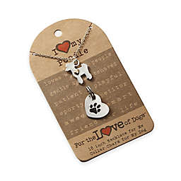 For the Love of Dogs Poodle Necklace and Pet Charm Set in Silver/Gold