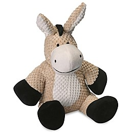goDog® Checkers Donkey Pet Toy with Chew Guard™ in Tan