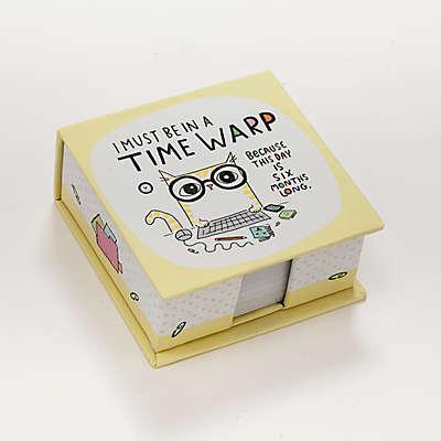 "Enesco® Cats@Work™ ""Time Warp"" Memo Cube"