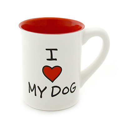 "Our Name Is Mud® ""I Heart My Dog"" Mug"