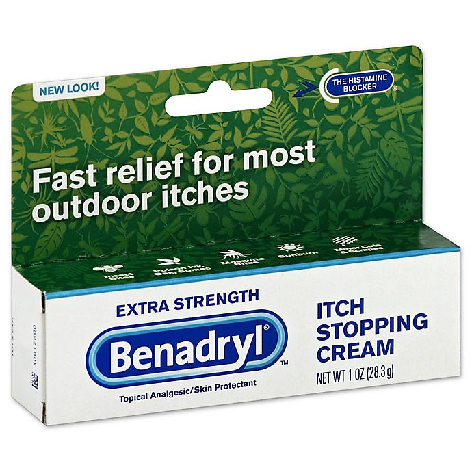 Benadryl® 1 oz  Itch Stopping Cream in Extra Strength | Bed