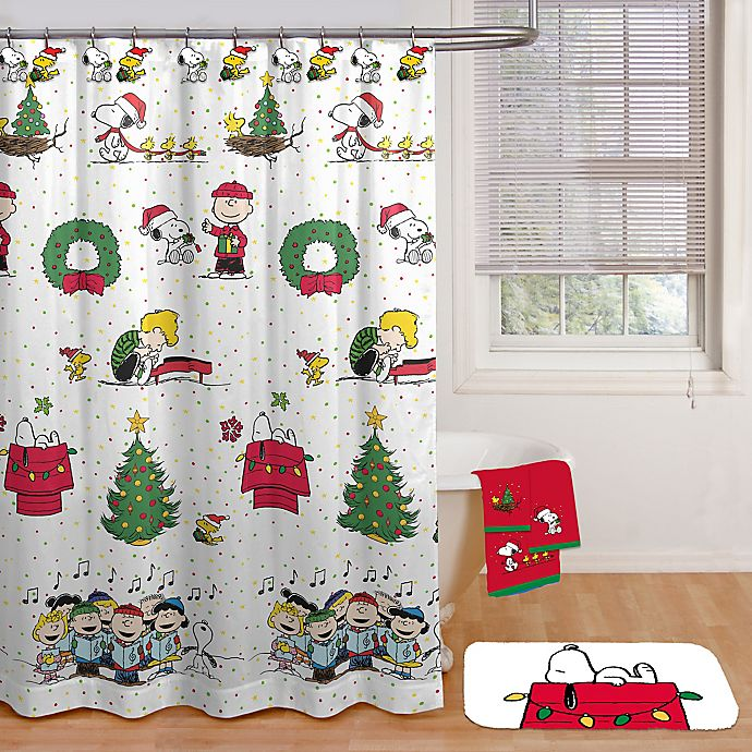 Alternate image 1 for Peanuts™ Be Merry Shower Curtain Collection
