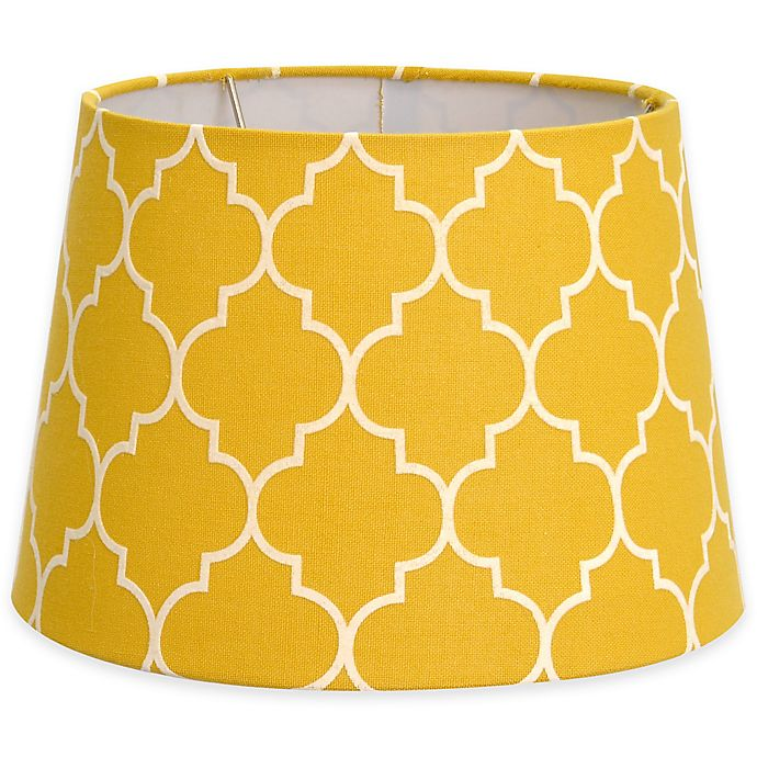 Alternate image 1 for Flocked Linen Lamp Shade Collection