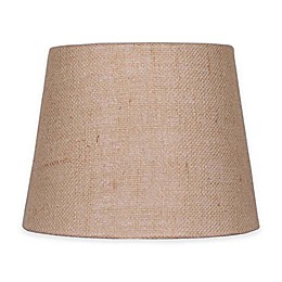 Mix & Match Small 10-Inch Natural Burlap Hardback Drum Lamp Shade in Tan