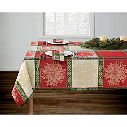 Poinsettia Jacquard Table Linen Collection