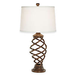 Pacific Coast® Lighting Tropical Bamboo Twist Cage Table Lamp