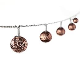 Pierced Ball 16-Light LED String Lights in Bronze