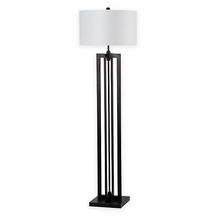 Alternate image 1 for Safavieh Tanya Tower 1-Light Metal Floor Lamp in Black with Shade