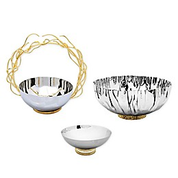 Classic Touch Stainless Steel Bowl Collection