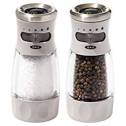 OXO Good Grips® Contoured Mess-Free Salt and Pepper Grinder Collection in Grey
