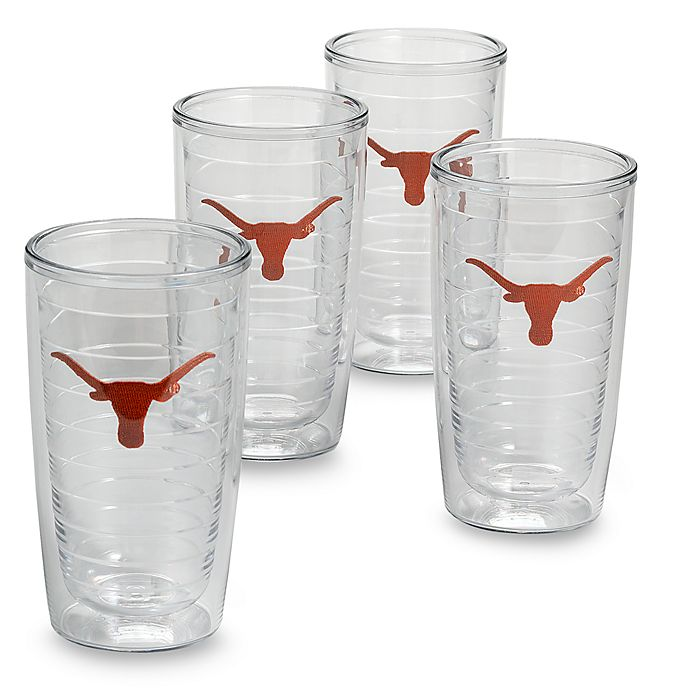 Alternate image 1 for Tervis® University of Texas Longhorns 16-Ounce Tumblers (Set of 4)