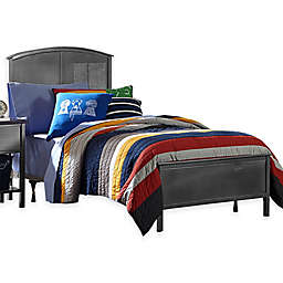 Hillsdale Urban Quarters Panel Bed Set with Rails in Steel/Black