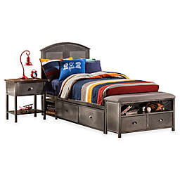 Hillsdale Urban Quarters Panel Storage Bed Set with Bench