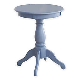 Pedestal Accent Side Table in Blue