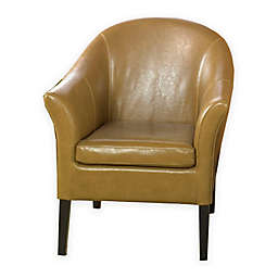 Venice Camel Leather Club Chair
