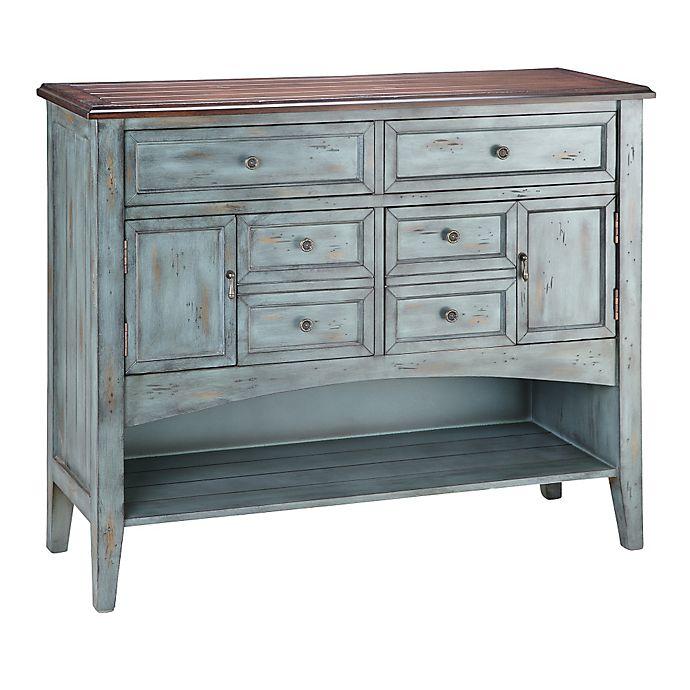 Alternate image 1 for Stein World Hartford 6-Drawer Buffet in Blue