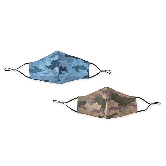 Alternate image 1 for London Luxury® Adult Fabric Face Mask Collection in Camouflage