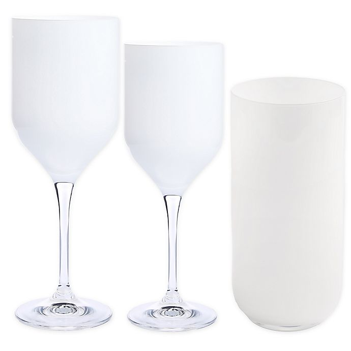Alternate image 1 for Classic Touch Glim Wine & Bar Collection in White