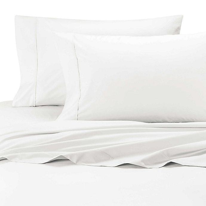 Alternate image 1 for SHEEX® Arctic Aire 300-Thread-Count Tencel® Lyocell Queen Sheet Set in White
