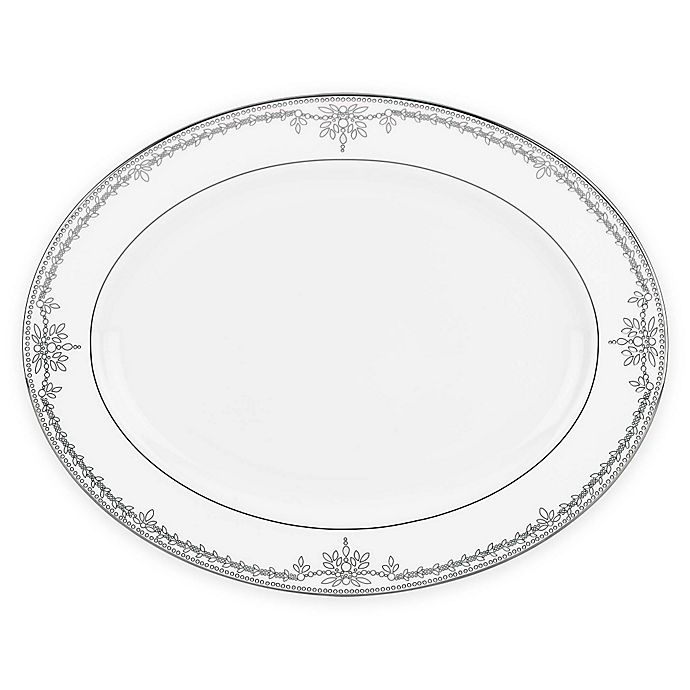 Alternate image 1 for Marchesa by Lenox® Empire Pearl 16-Inch Oval Platter