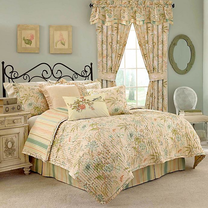 Alternate image 1 for Waverly® Cape Coral 4-Piece Reversible Quilt Set