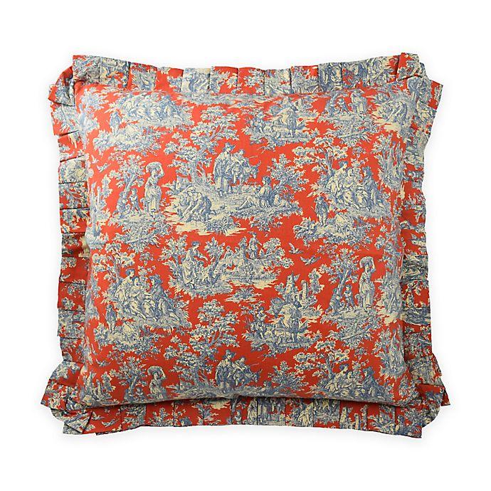 Alternate image 1 for Waverly® Sanctuary Rose European Pillow Sham in Blue