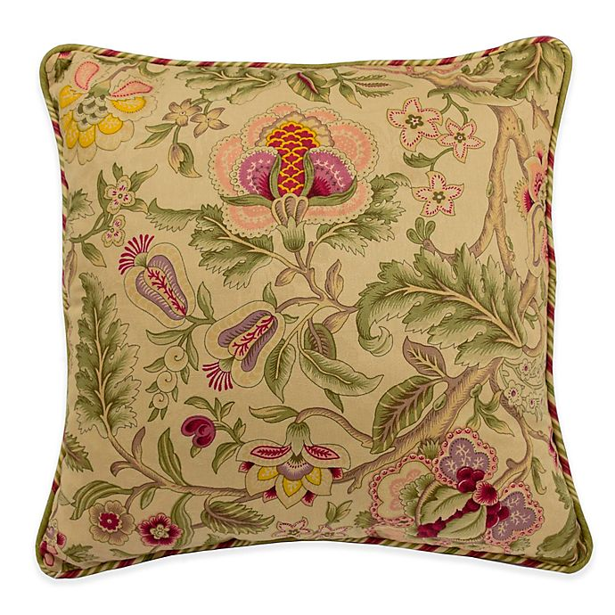 Alternate image 1 for Waverly® Imperial Dress 18-Inch Square Throw Pillow in Antique
