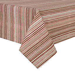 Textured Stripe Laminated Fabric Table Linen Collection