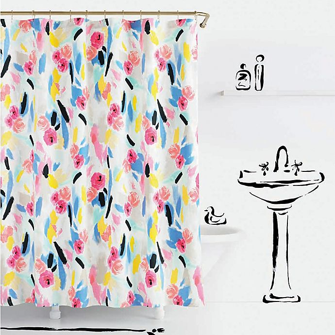 Alternate image 1 for Kate Spade Paintball Floral Shower Curtain